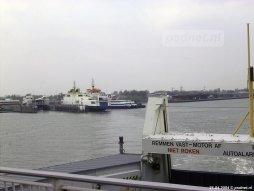 Drie veerboten in Vlissingen