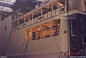 Het galerijdek ligt op halve hoogte van het onderste rijdek en was niet voor passagiers toegankelijk. Op het galerijdek zijn vier openingen aangebracht met de ankerlieren en verhaal- en meerbenodigheden.