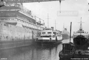 Herstel op de werf in 1948