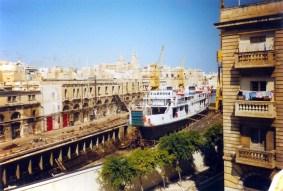 In het droogdok op Malta