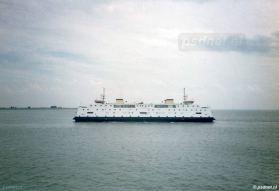Een foto van de PSD-boot Kruiningen-Perkpolder.