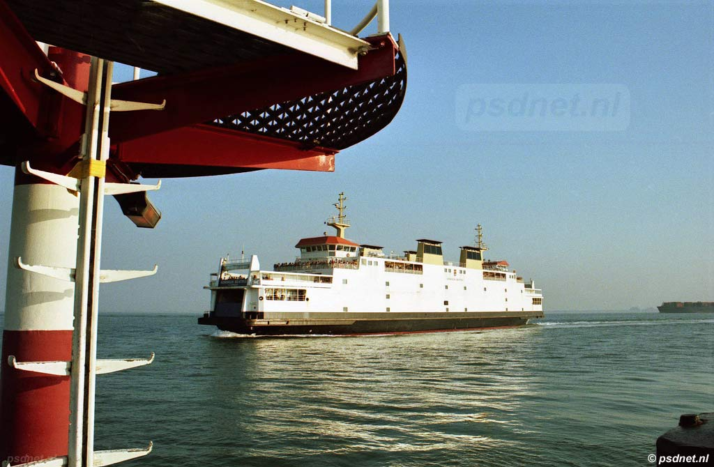 De PSD-veerboot Koningin Beatrix van het autoveer Vlissingen-Breskens