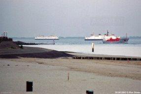 Als eerste vertrokken in 2003 drie PSD-dubbeldekkers naar Italië. De twee nieuwste schepen bleven nog een tijdje varen als voetveer Vlissingen-Breskens.