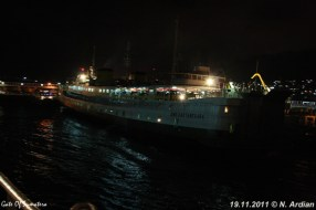 SMS Kartanegara - Merak bij nacht