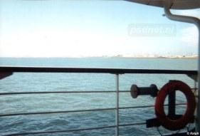 De skyline van Vlissingen gezien vanaf de PSD-boot Prinses Margriet.