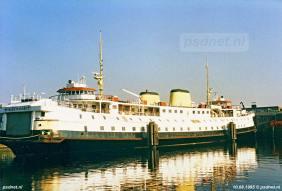 Als reserveboot lag de Prinses Margriet vaak in de Binnenhaven van Vlissingen, waar de PSD haar werkplaats en kantoor had.