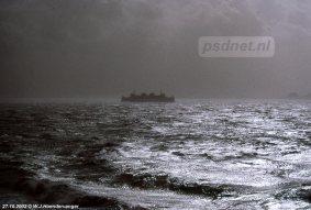 Ook met windkracht 11 werd er gevaren door de PSD, maar soms met minder geluk zoals op 27 oktober 2002. De bemanning krijgt de Koningin Beatrix niet afgemeerd in Vlissingen waarop teruggekeerd wordt naar Breskens.