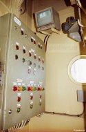 De TCR-C2-bedieningsruimte op de Zeeuwse veerboot Prinses Juliana (1986).