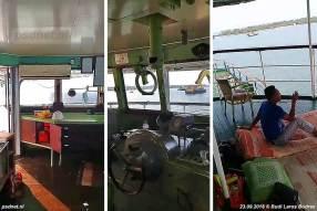 De Margriet ligt voor anker in de baai van Bojonegara, de bemanning zit nog steeds aan boord (al sinds mei) en wacht op wat komen gaat. Om het wachten aangenamer te maken heeft de bemanning matrassen op de brug gelegd.