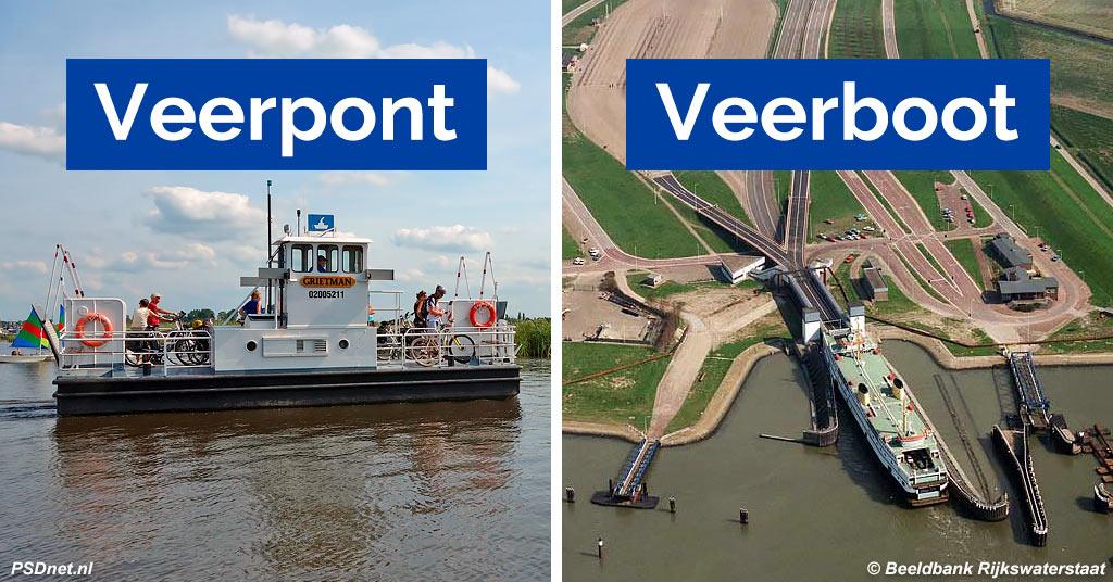 Veerpont versus Veerboot