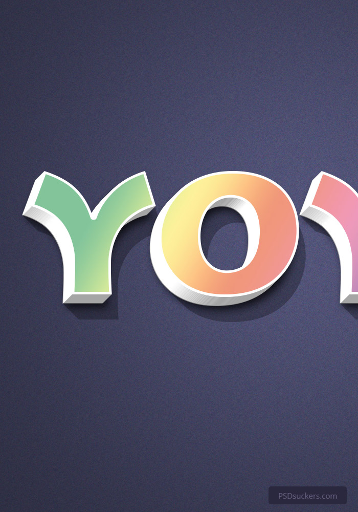 YOYO 3D Text Effect PSD