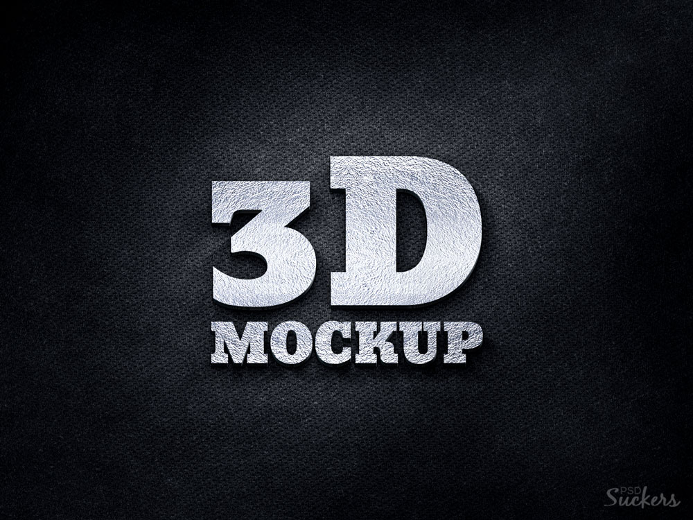 To understand the details of the mockup psd file read the description. 3d Logo Mockup Psd Download Free Download Mockup