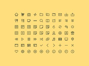 simple icons free psd