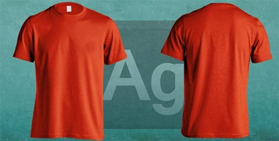 free custom colored t shirt mockup