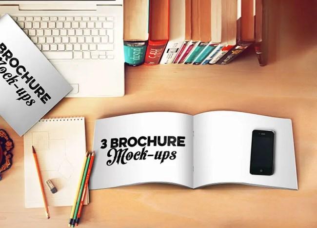 3 Free Brochure Mockup Templates
