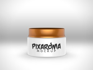 Cream Jar Mockup PSD