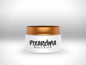 Cream Jar Mockup PSD