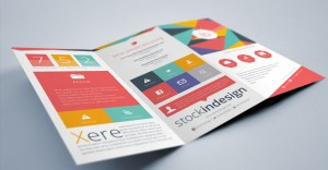 Flat InDesign Tri-fold Brochure Template