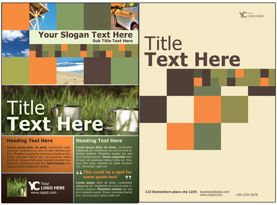 Free Bi Fold Brochure Template PSD  Free Bi Fold Brochure Template Word