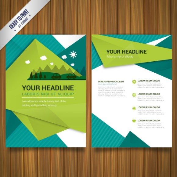 Free Vector Environmental brochure