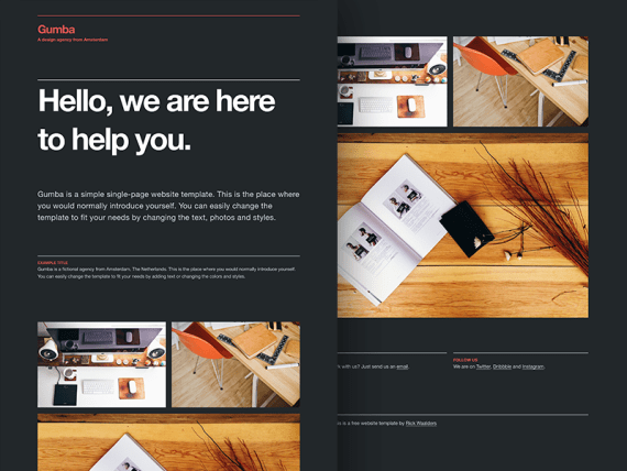 Gumba - Free HTML5/CSS3 single-page website template