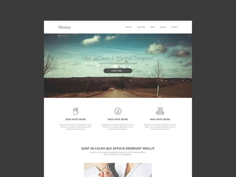Minimalist Website Templates Free Romeolandinezco - Minimalist website template