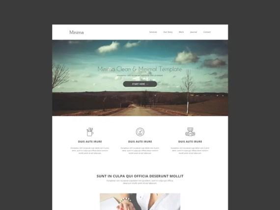 Minima - A Free Minimalist HTML5 App Landing Page Template