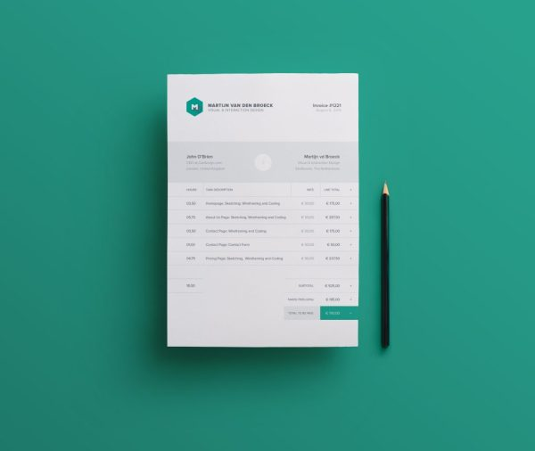 Modern Invoice Template INDD and IDML