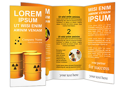 Nuclear Waste Brochure Template
