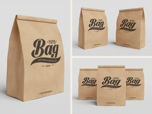 Paper Bag Mockup PSD to Showcase Packaging Branding