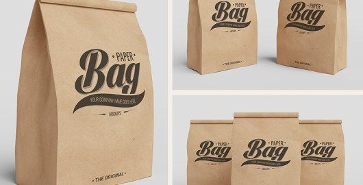 Paper Bag Mockup PSD to Showcase Packaging Branding