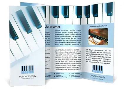 Piano Brochure Template