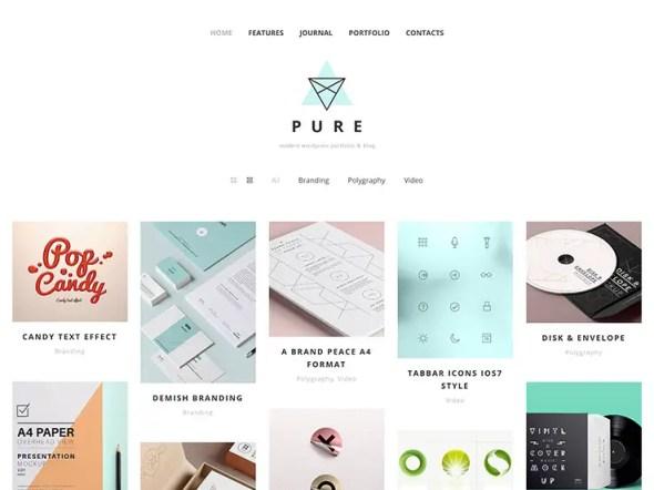 Pure WordPress Portfolio Theme