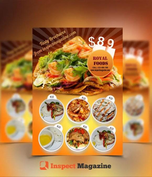 Restaurant Brochure cum Menu PSD Template