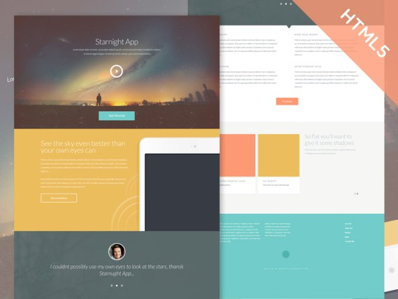 Starnight - Free HTML5 and CSS3  Multipurpose Website Template