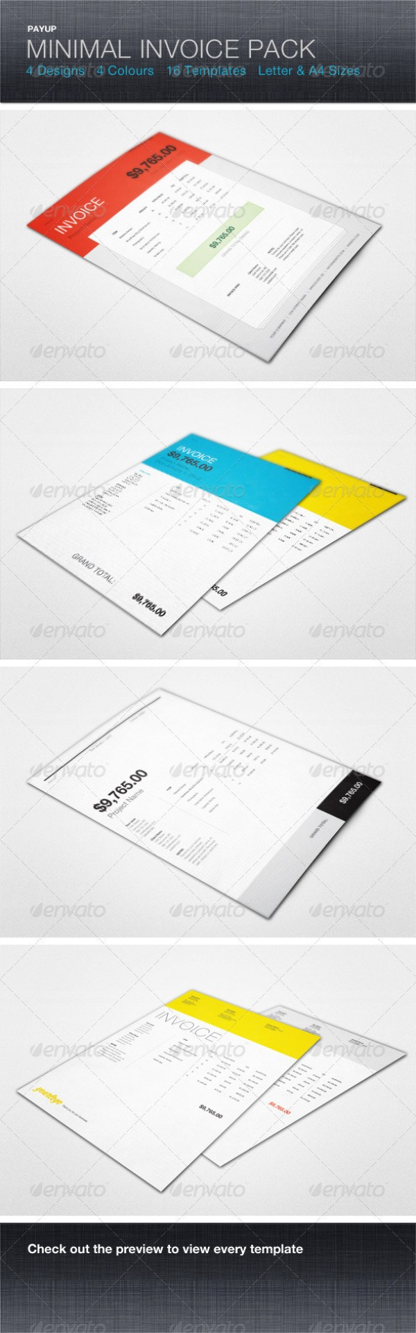 minimal Invoice Template Pack