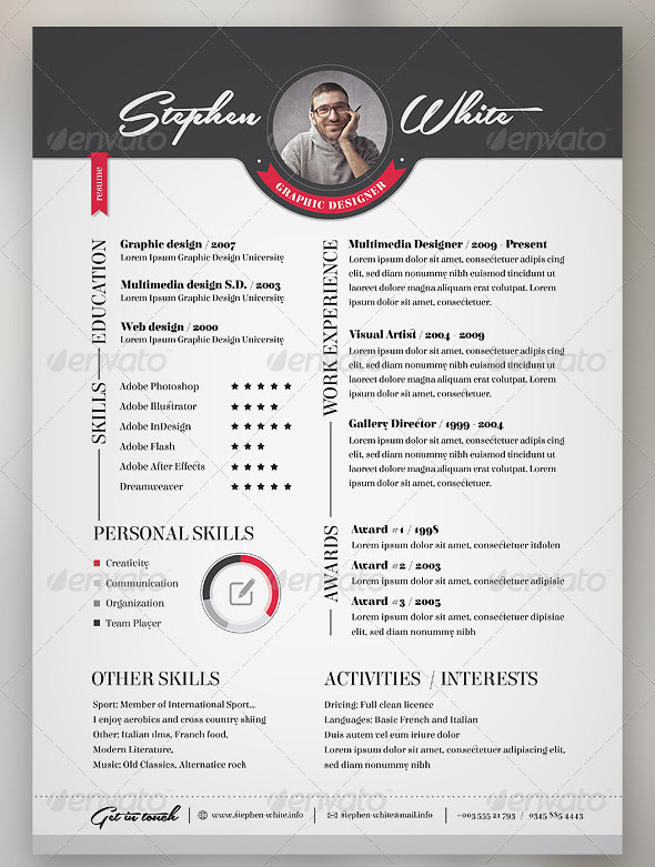 3-Piece Resume CV Set