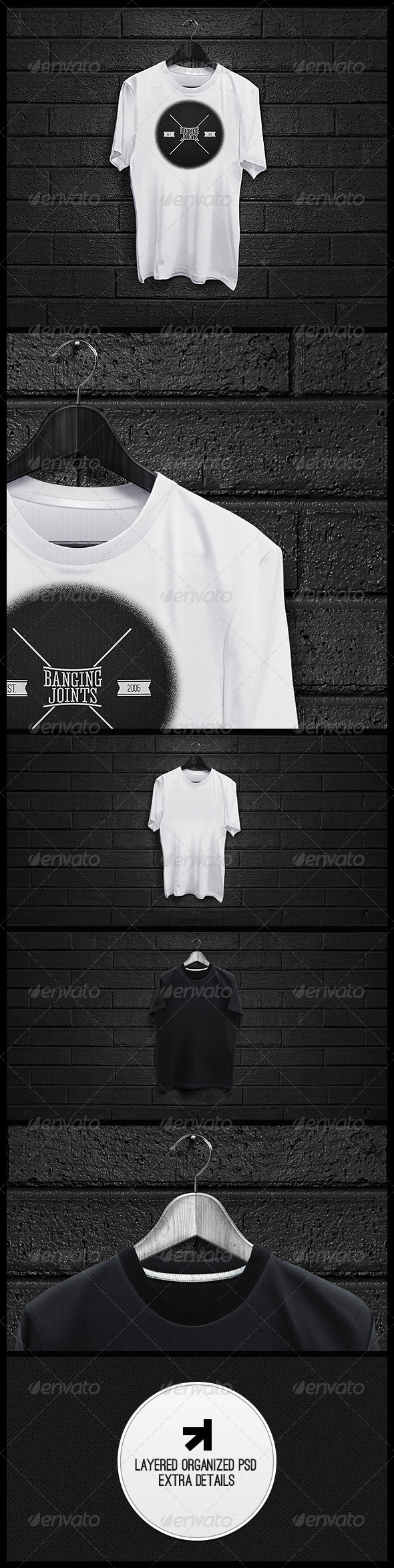 Black White T-Shirt Mockup