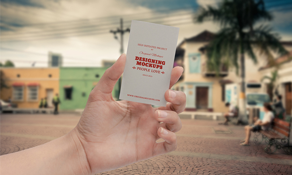 Business Card Hand Mockup Free Download