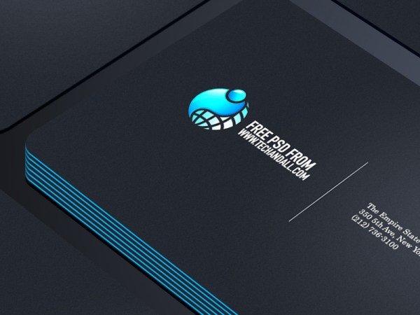 Business Card Showcase PSD