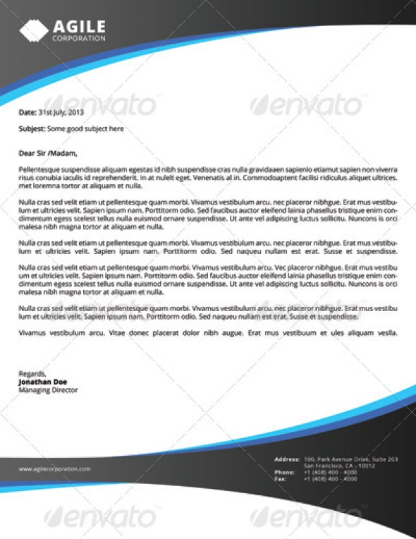 12 free letterhead templates in psd ms word and pdf format corporate letterhead vol 1 with ms word download flashek Choice Image