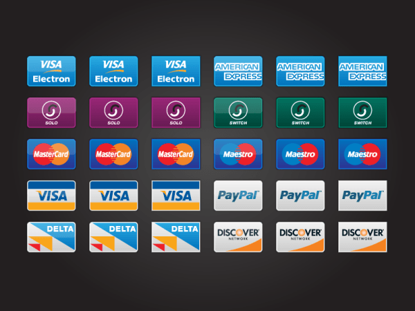 Credit Card Icons PSD AI PNG