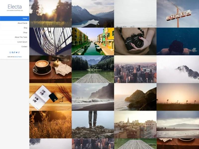 Electa WordPress Photography Theme