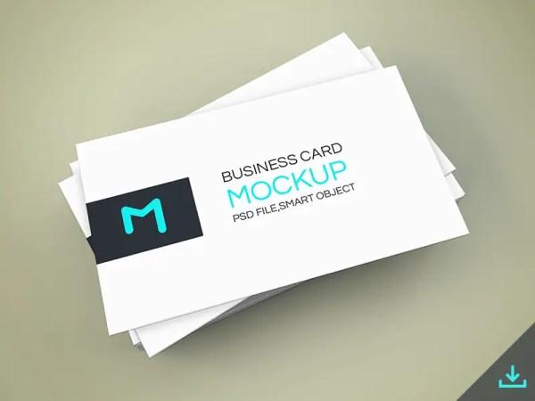 Elegant Business Cards Mockup PSD