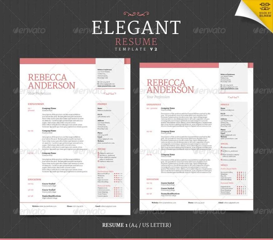 Elegant Resume CV V2