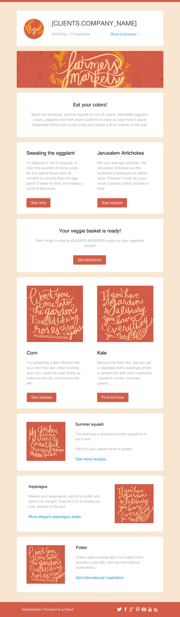 Farmers Market Email Newsletter Template