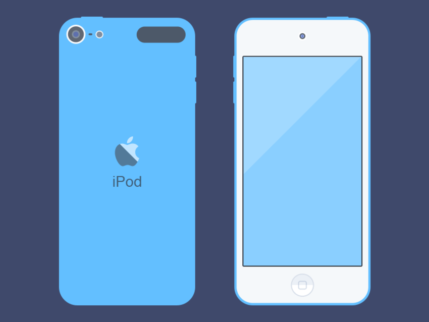 Free iPod Touch Mockup PSD