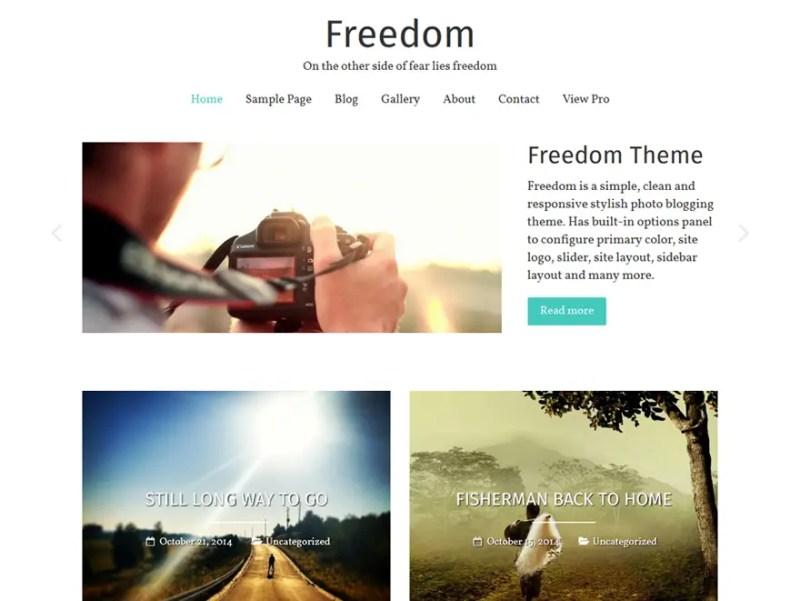 Freedom WordPress Photography Theme