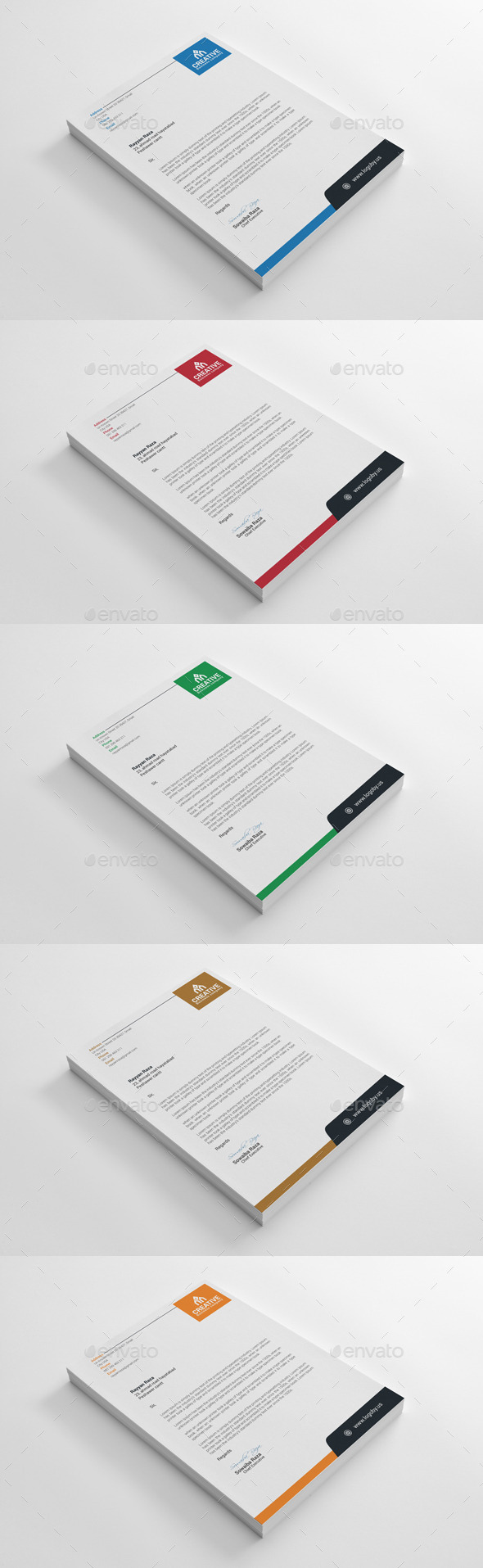 12 free letterhead templates in psd ms word and pdf format letterhead template altavistaventures Image collections