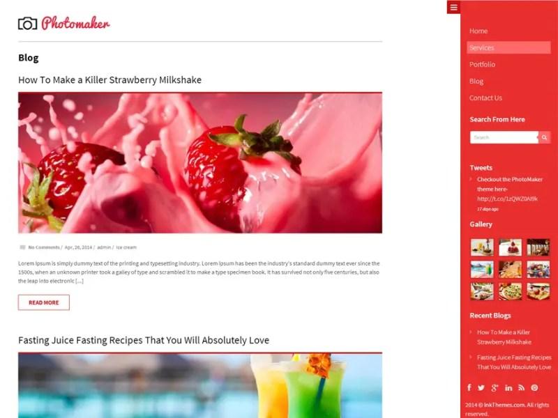 PhotoMaker WordPress Photography Theme